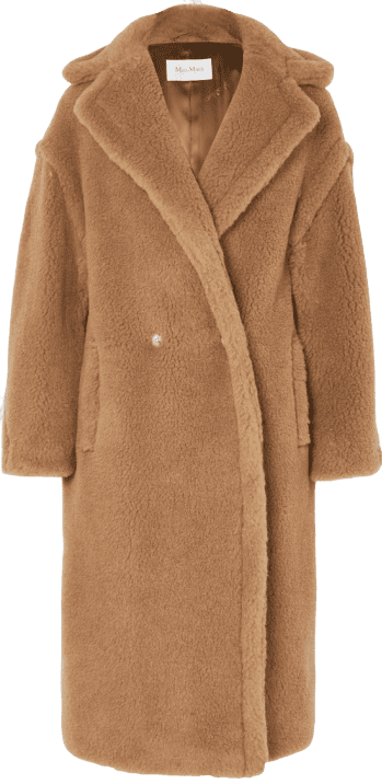 Brown Teddy Icon Camel Hair And Silk Coat