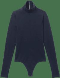 Midnight Stretch Viscose Turtleneck Bodysuit