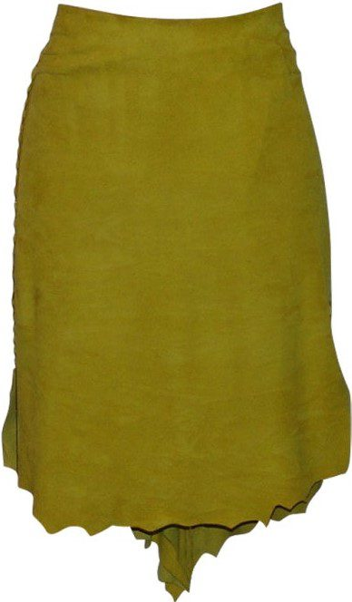 Mustard Colored Suede skirt