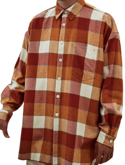 Orange Ox Plaid Flannel Shirt