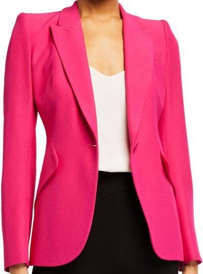 Pink Crepe Slim Fit Blazer-Alexander McQueen