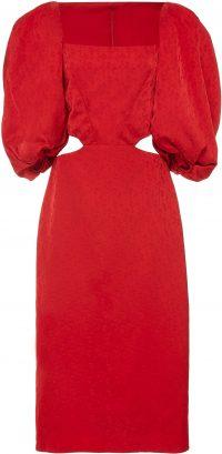 Red Exclusive Forgotten Virtues Dress-Johanna Ortiz