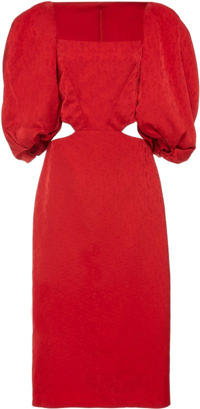 Red Exclusive Forgotten Virtues Dress-Johanna Ortiz