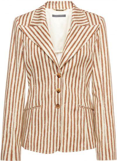 Striped Stretch Gabardine Blazer