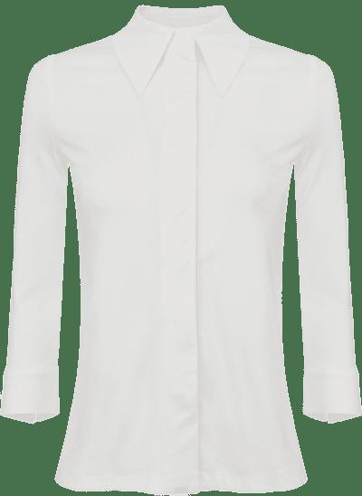 White 34 Length Sleeves Blouse