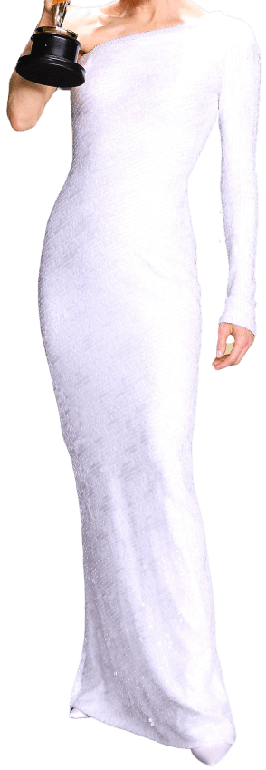 White Custom One-Shoulder Dress