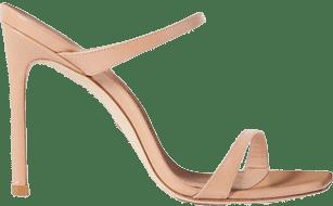Beige Aleena Textured Patent-Leather Sandals-Stuart Weitzman