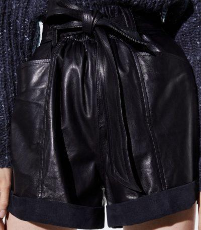 Black Dafy High Waist Shorts-IRO