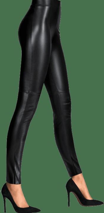 Black Estella Faux Leather Leggins