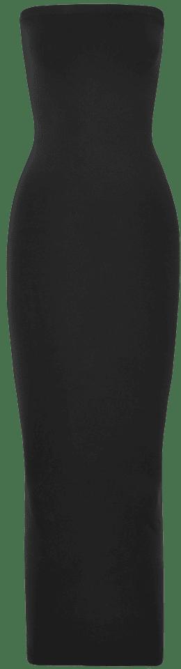 Black Fatal Strapless Stretch-Jersey Maxi Dress
