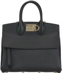 Black Front Flap Tote Bag