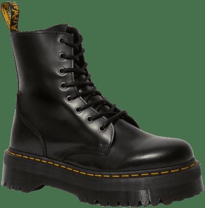 Black Polished Smooth Jadon Boots