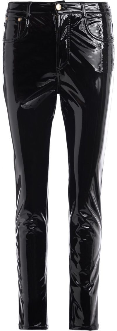 Black Shiny Vinyl Pants