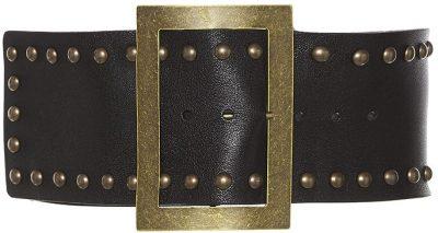 Black Thick Stud Belt-Philosophy di Lorenzo Serafini