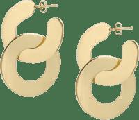 Brass Small Double Camille Hoop Earrings-Louise Olsen