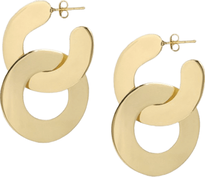Brass Small Double Camille Hoop Earrings-Louise Olsen