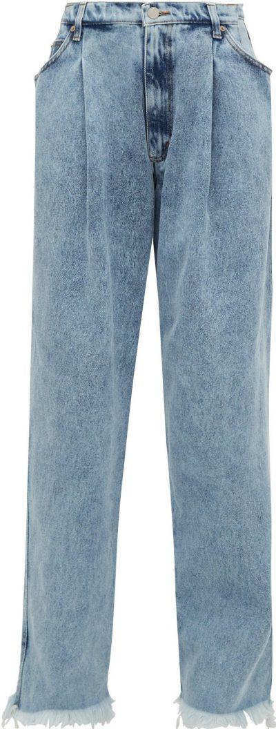 Frayed Hem Straight Leg Jeans-Natasha Zinko