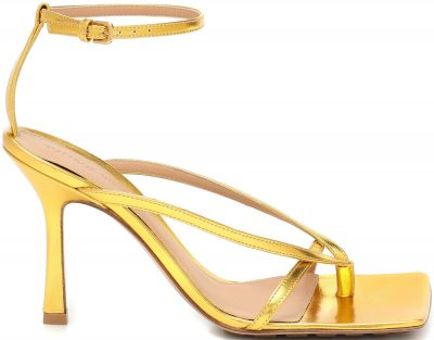 Golden Metallic Leather Sandals