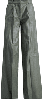 Green Leather Trousers-Holzweiler
