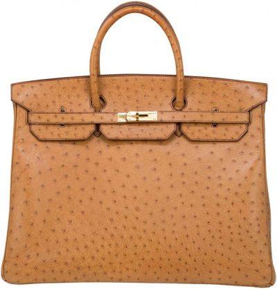 Light Brown 40cm Ostrich Birkin Bag-Hermes
