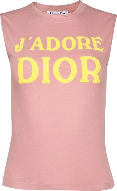 Pink J'adore Dior Sleveless Top