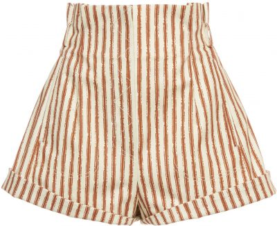 Striped Stretch Gabardine Shorts