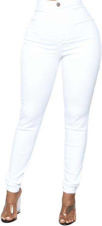 White Luxe Ultra High Waist Skinny Jeans