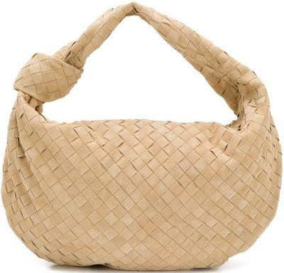 Beige Medium BV Jodie Shoulder Bag-Bottega Veneta