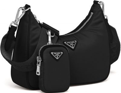 Black Re-Edition 2005 Nylon Shoulder Bag-Prada