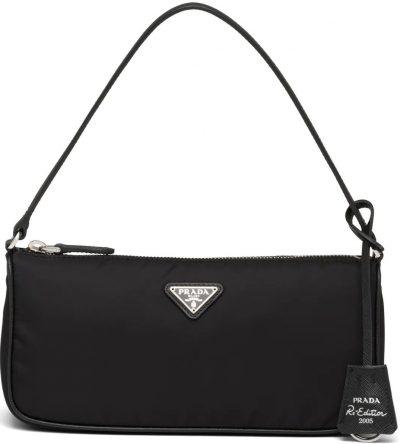 Black Re-Edition 2005 Saffiano Leather Mini-Bag-Prada