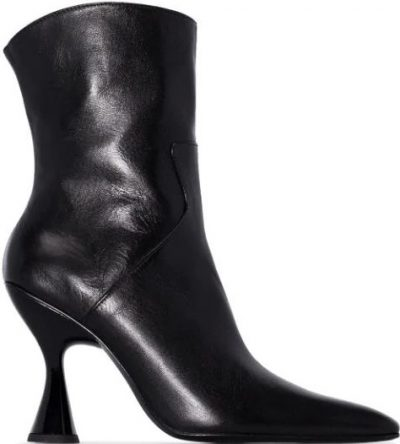 Black Stainless Ankle Boots
