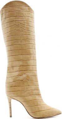 Maryana Sandcastle Croc-Embossed Leather Boot-Schutz