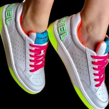Neon Calfskin Sneakers