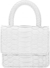 White Itsy Bitsy Micro Top Handle Handbag