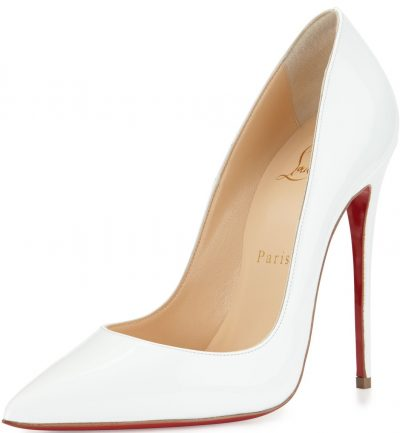 White So Kate Red Sole Pump