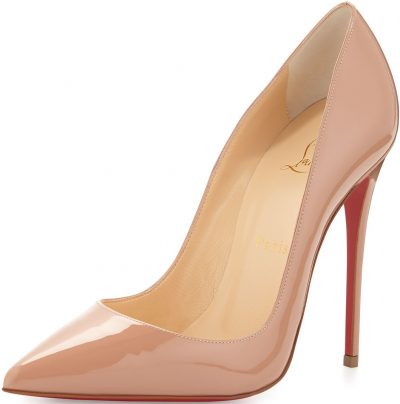 Nude So Kate Pointed-Toe Red Sole Pump