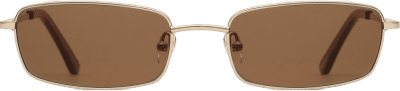 Olsen Brown Lens Rectangular Sunglasses-DMY BY DMY