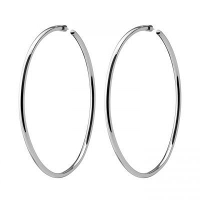 Silver Lilly Hoops