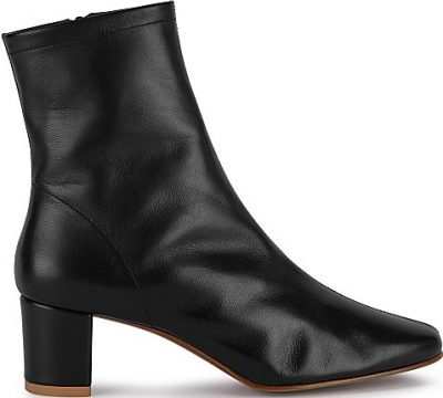 Sofia 65 Black Leather Ankle Boots-By Far