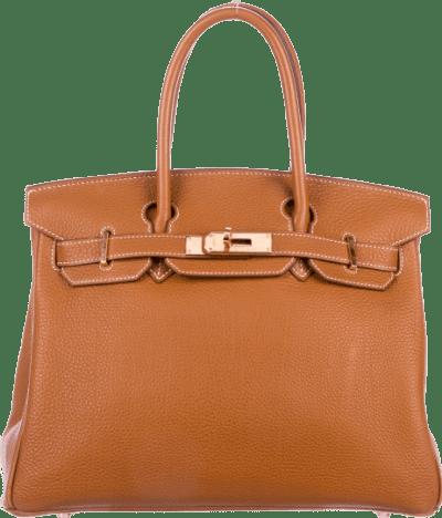 Gold Togo Birkin 30 Handbag