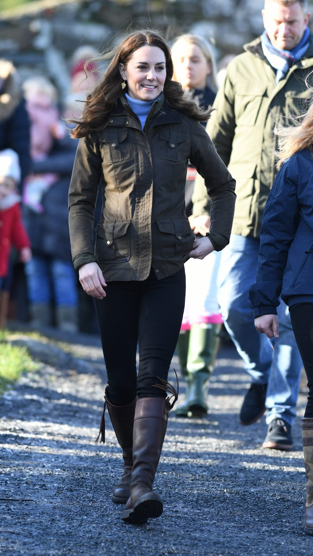The Duchess of Cambridge visits The Ark Open Farm