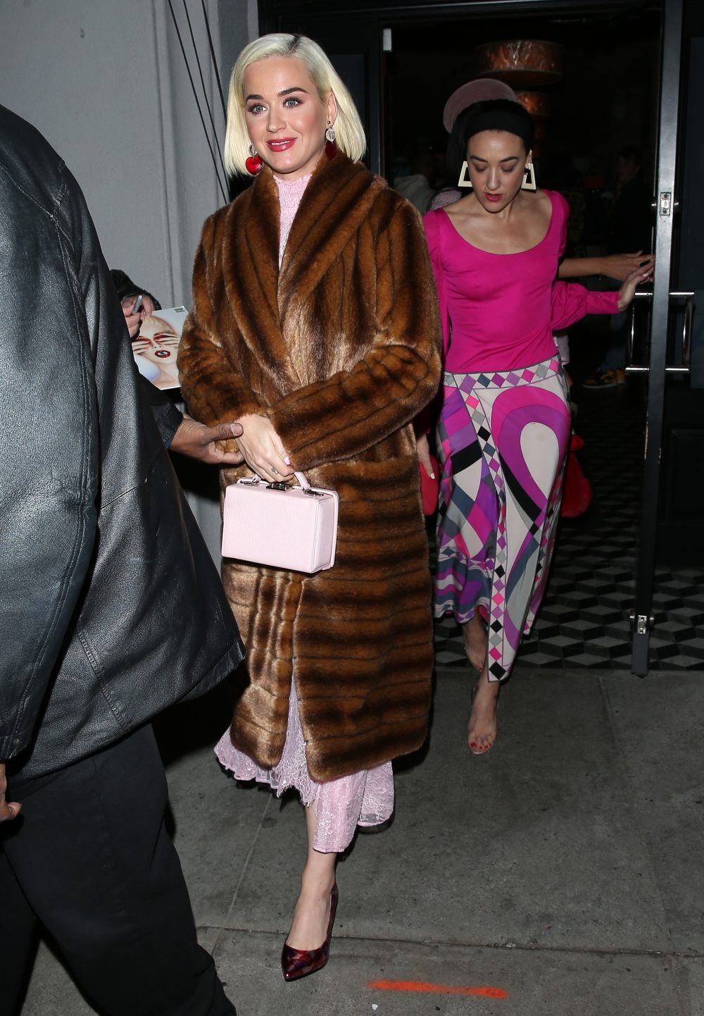 Katy Perry spends her Valentine's day with girlfriends at 'Craigs' Restaurant in West Hollywood, CA