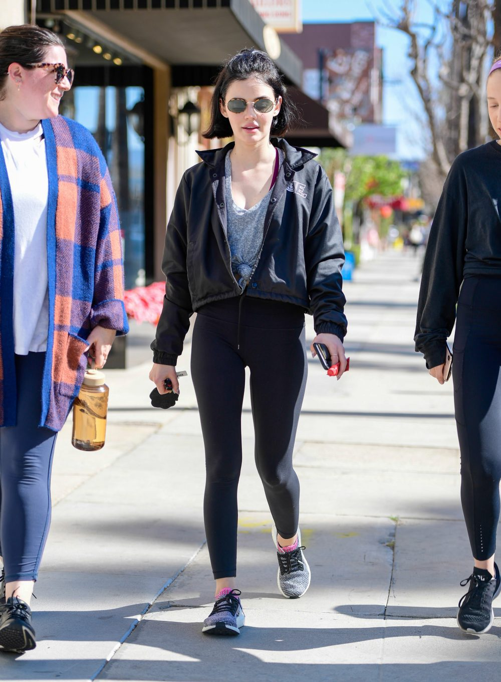 Lucy Hale is seen in Los Angeles, California.