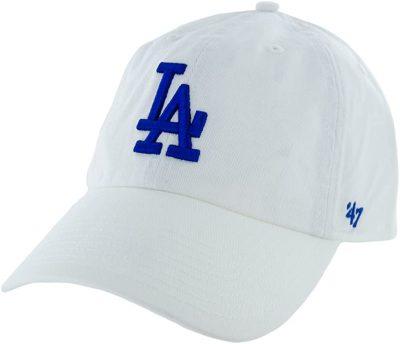 White Blue Logo Los Angeles Dodgers Dad Hat Cap