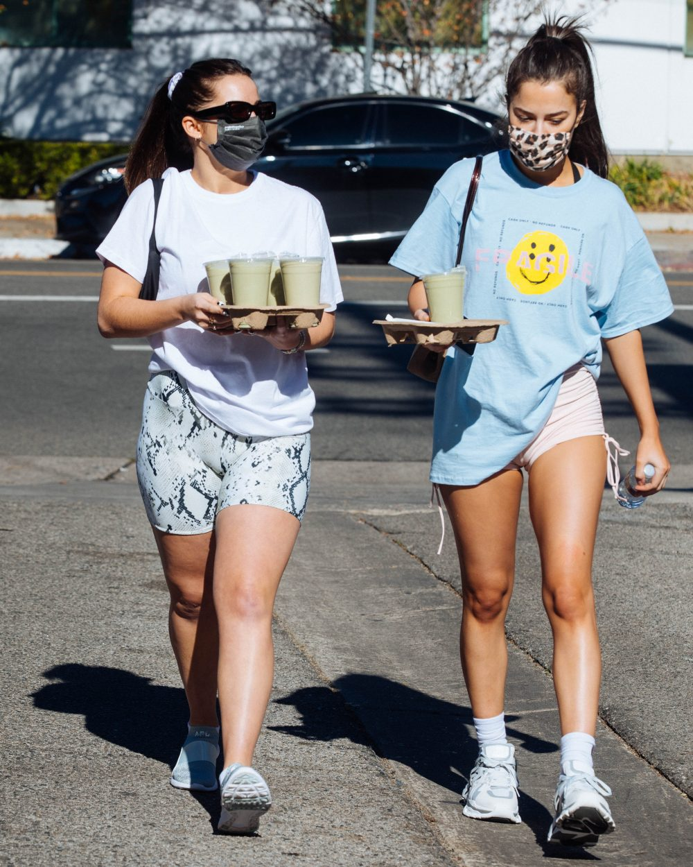 Addison Rae & Tessa Brooks make a rare appearance together as they grab morning coffee