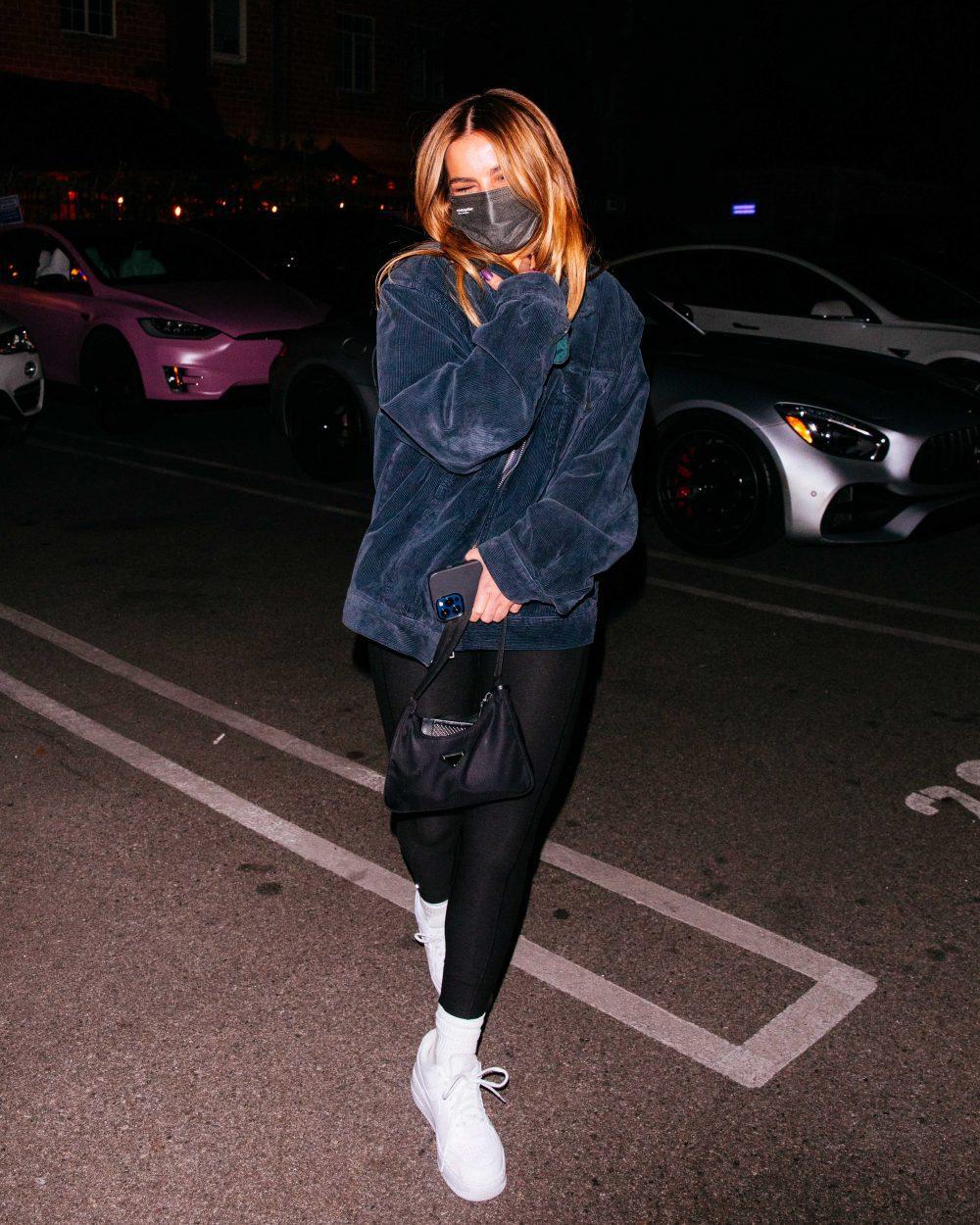 Addison Rae & The Kid Laroi leaves dinner at Matsuhisha