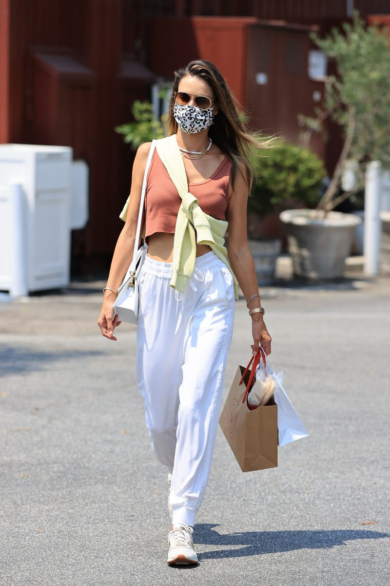 Alessandra Ambrosio looks stylish running errands