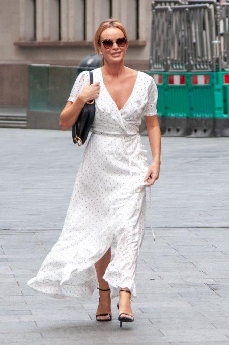 Amanda Holden seen leaving Global Studios Heart Radio on 11 September 2020
