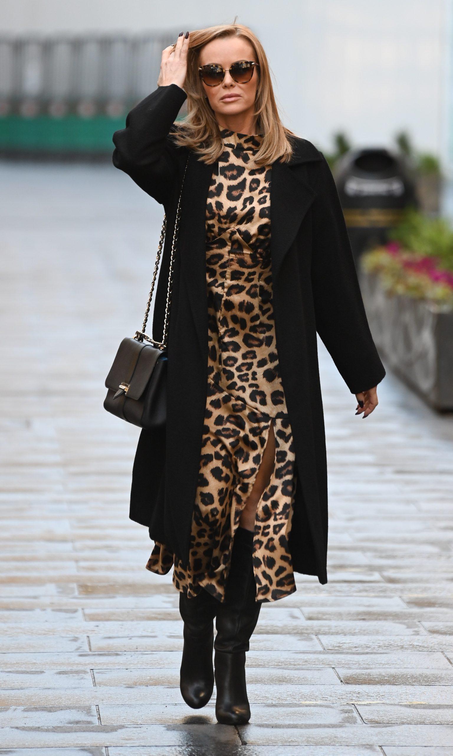 Amanda Holden seen leaving Global Studios, Heart FM, London UK, 1 December 2020