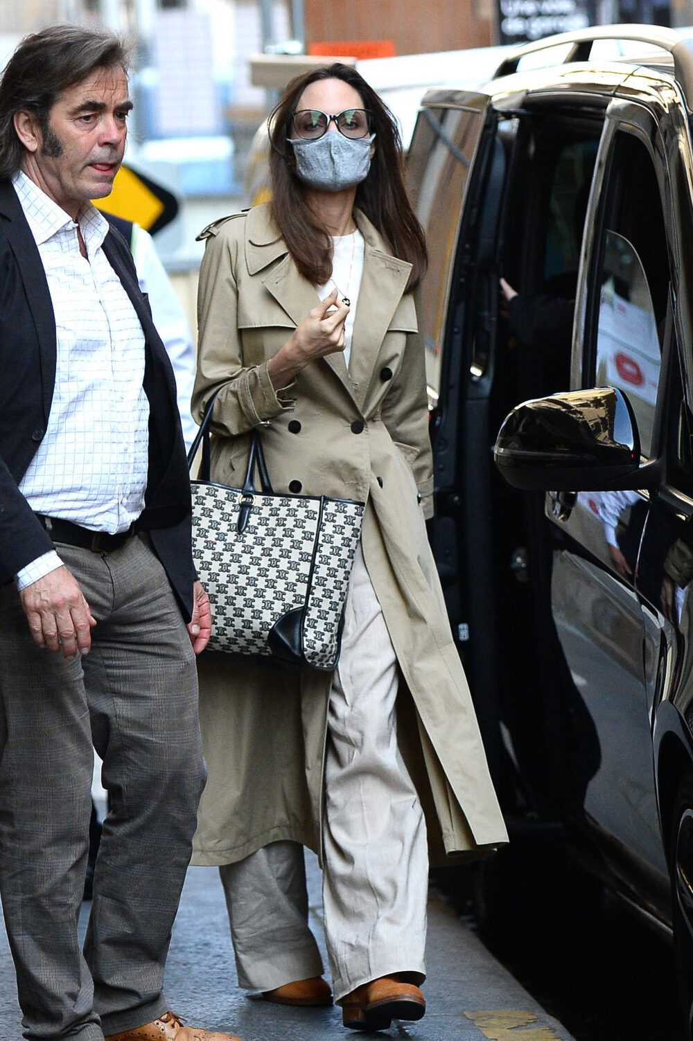 Angelina Jolie and children,Pax, Sahara and Shilo leave their hotel in Paris